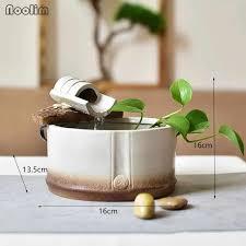 keramik kleine wasser brunnen dekoration wasserlandschaft wohnzimmer büro desktop kreative bambus modell feng shui ornamente