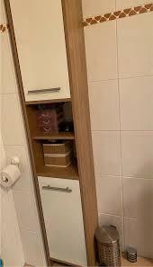 badset badezimmer möbel schrank und unterschrank nussbaum weiß