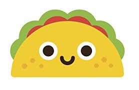 "Mexican Food Cartoon Emoji Vinyl Decal Sticker 4"" Wide Taco"