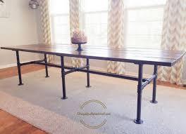 Diy Industrial Dining Table New A Farmhouse Pipe Leg
