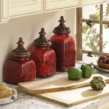 Red Kitchen Canisters Accessories