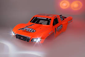 100 Slash Rc Truck RC Robby Gordon Traxxas Car Body With Lights