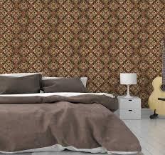 braune barock tapete vintage stil