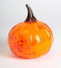 Glass Blown Pumpkins by Granville Health System Visual Art