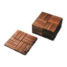 Ikea Outdoor Deck And Patio Interlocking Flooring Tiles Brown Stained