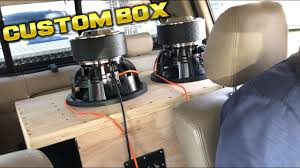 100 Truck Subwoofer Boxes CUSTOM SUBWOOFER BOX TUNED TO 32HZ WITH 2 SKAR ZVX 12S FLEXING
