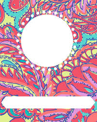 26 Binder Cover Templates Images Showing Ue Lilly Pulitzer