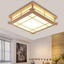 japanische deckenleuchte led len massivholz tatami licht len japanische wohnzimmer licht 350mm 350mm 120mm schlafzimmer balkon protokolle