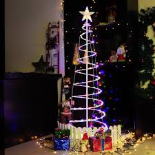 Ebay Christmas Trees With Lights by 6 U0027 Ft Color Changing Christmas Xmas Led Spiral Tree Light Battery
