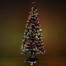 7ft Fibre Optic Christmas Tree by Werchristmas 7 Ft Pre Lit Fibre Optic Christmas Tree White Black
