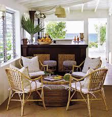 Natural Sunroom Furniture For Interior Decor Idea Vintage Wooden Minimalist Living Room