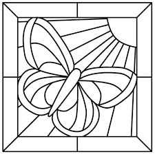 Stained Glass Coloring Pages Adult Page For Kids