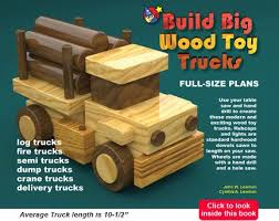 wood toy cars and trucks quick build plan sets for table saws