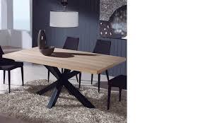 table en bois et métal industrielle hcommehome
