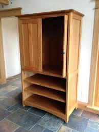 Oak Media Cabinet Glass Door Storage Sliding Doors Windowpane With Hidden Tv Tall White Hardware Drawers Wood Dvd Stand Wooden Unit Solid Shelf Dark