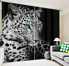 chlwx 3d tapete leopard tiger luxus 3d vorhänge für