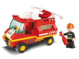 Sluban NEW Building Bricks Blocks Mini Figure Toy Set Town Fire ...