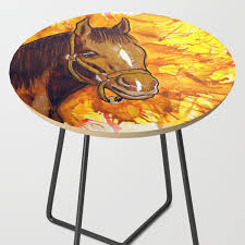 The Horse That Ran Away Side Table By Tome213 | Society6