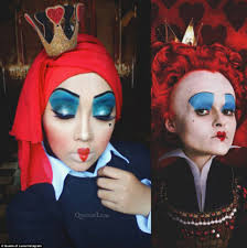 Characters For Halloween With Red Hair by Queen Of Luna Uses Her Hijab As Part Of Her Disney Make Up