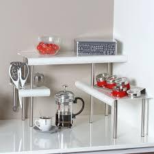 étagère cuisine à poser etagère d angle blanche pour la cuisine salle de bain ou sur un