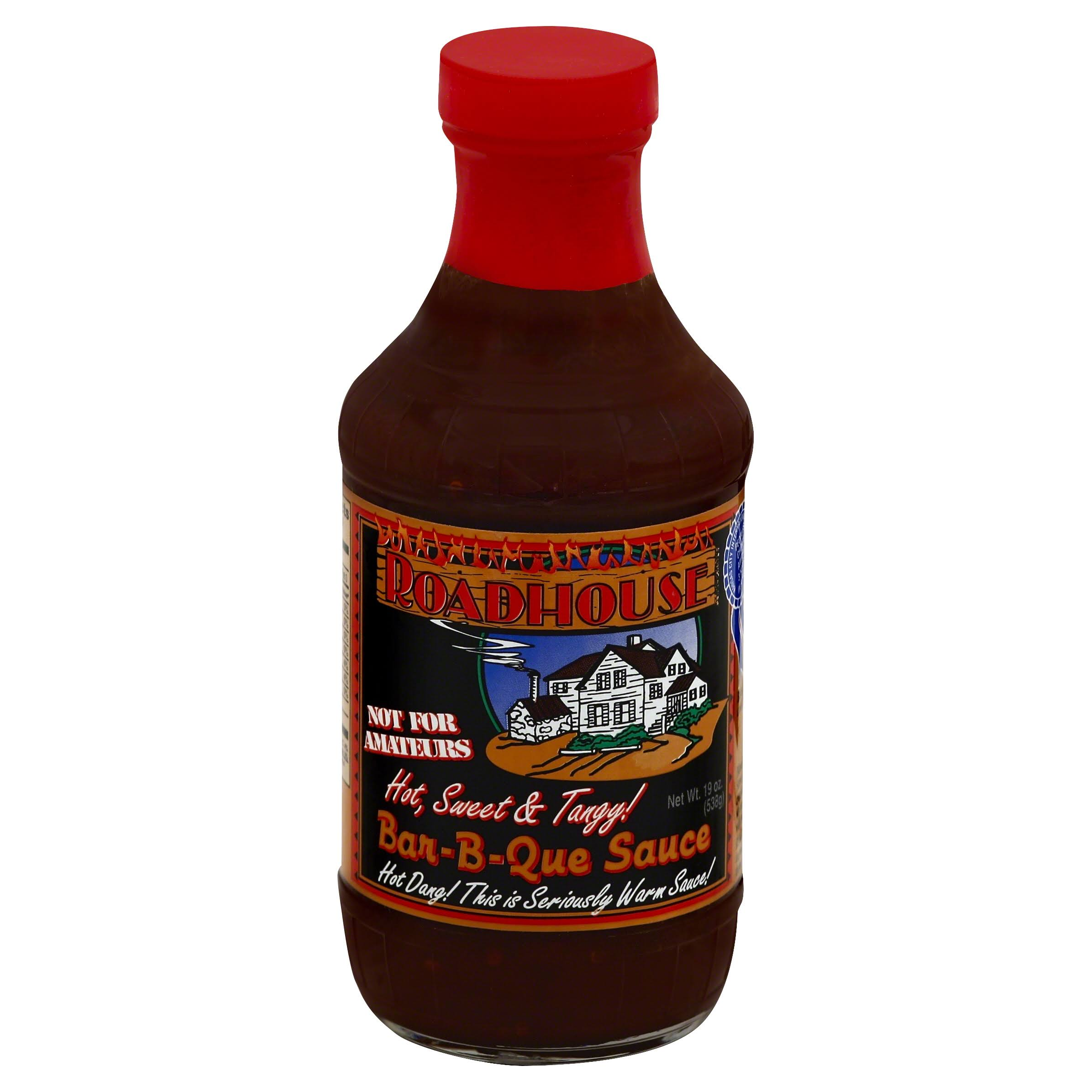 Roadhouse Bar-B-Que Sauce, Hot, Sweet & Tangy! - 19 oz