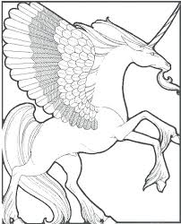 Unicorn With Wings Coloring Pages Free Printable Pegasus Colouring