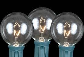 clear g50 7 watt replacement bulbs 25 pack novelty lights inc