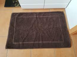 bad vorleger teppich badegarnitur badvorleger badteppich braun