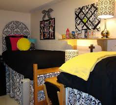 Incredible Various Dorm Room Quilts Ideas Extraordinary Shared Teen Bedroom Decoration Using Curved Pattern Black