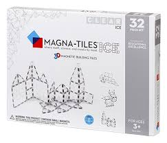 Valtech Magna Tiles 100 by Amazon Com Magna Tiles Ice 32 Piece Set Toys U0026 Games
