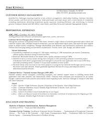 Resume For Service Manager Examples Customer As Objective Example