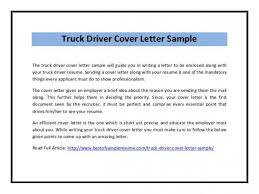 Download Free Emejing Delivery Truck Driver Cover Letter Gallery Of
