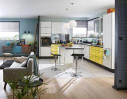 cuisine ouverte sur le salon photo salon cuisine ouverte 10 sur amenagement angle lzzy co