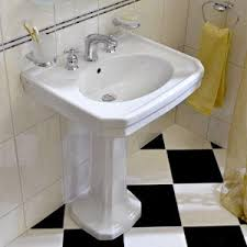 Barclay Pedestal Sink 460 by Pedestal Sink We U0027re Replacing An Over Sized Vanity With A Sink