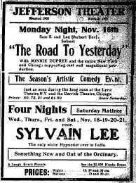 From 1893 Until 1900 Lees Career Appears To Be A Decent One And Toward The End Of That Period Hes Operating As Head Troupe Stage Hypnotists