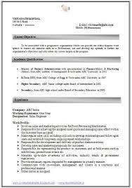 Mba Graduate Resume Examples Samples Word Format Elegant Best Professional