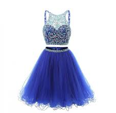 women u0027s 2017 sparkly royal blue short 2 piece beaded homecoming