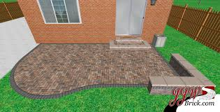 brick patio design ideas small paver patio design in birmingham mi 48009 brick paving