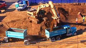 Excavator Fills Dump Trucks With Dirt At Construction Site - YouTube Snow Plowing Sterling Dump Truck Pushing Back Drifts Youtube Bmodel Mack Trucks Garbage Youtube For Toddlers Dump Truck Video Of This Wwwyoutubecomwatch Flickr 2009 Freightliner Classic Dump Truck Detroit 14 L Belaz Working Hard In Russia Mitsubishi Colt Diesel 120ps Being Loaded By Volvo Ec210b 2 Hino Dutro Stuck 2016 Vhd Quad Axle Within Used Rc Adventures 112 Scale Earth Digger 4200xl Excavator 114 8x8