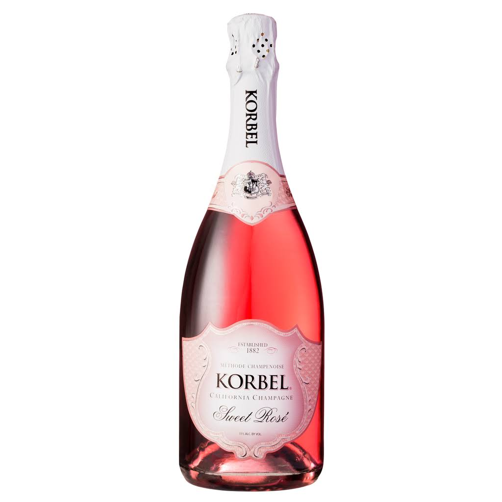 Korbel Sweet Rose Champagne - California