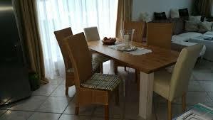 esszimmermöbel vintage holz inkl 4 stühle