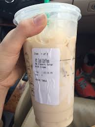 This Is A Venti Iced Coffee With Cream Looks Like
