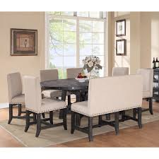 Walmart Glass Dining Room Table by Modus Yosemite 8 Piece Oval Dining Table Set With Upholstered