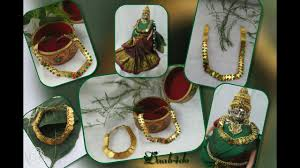 Varalakshmi Vratham Decoration Ideas by Necklace For Varalakshmi Vratam Puja Idol Decorations