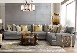 Cindy Crawford Metropolis 3pc Sectional Sofa by Palm Springs Contemporary Sectional Living Room Furniture Collection