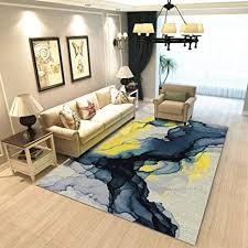 qydf teppich kissen abstrakt blau gelb modern teppich beleg