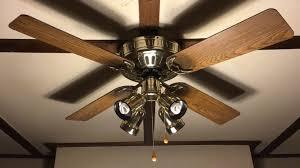 hunter low profile ceiling fan 52 oak blades with spotlight kit