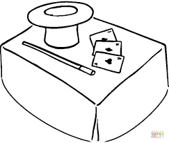 Click The Magic Hat Coloring Pages To