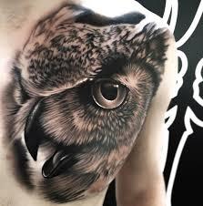 Owl Portrait Chest Piece