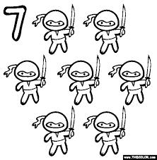 Seven Ninjas Coloring Page